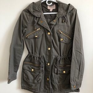 Forever 21 grey military jacket